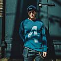 Lucky No.4 Indigo American Sweatshirt Unisex image