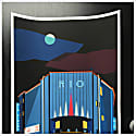 The Art Deco Rio Cinema, Illustrated Art Print Of London image
