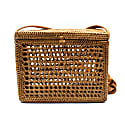 Square Rattan Basket Cross Body image