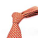 Tire Tracks - Orange - Hand Finished Silk Tie image