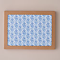 Set Of Four Herringbone Placemats - Blue image