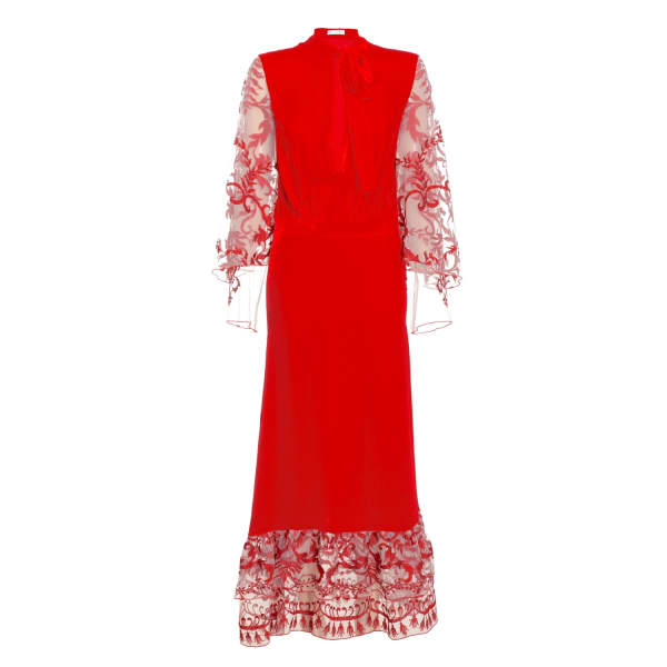 JIRI KALFAR Red Velvet Dress
