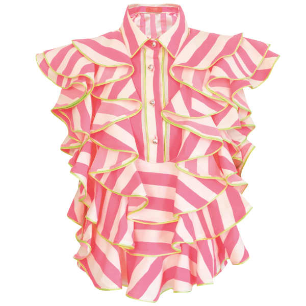SUPERSWEET X MOUMI Manooshby Shirt Neon Stripe