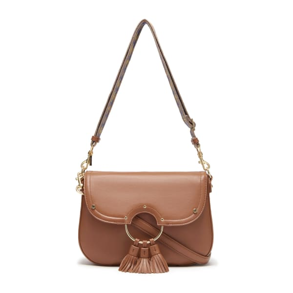 THACKER NEW YORK Suri Saddlebag In Cognac & Gold in Brown