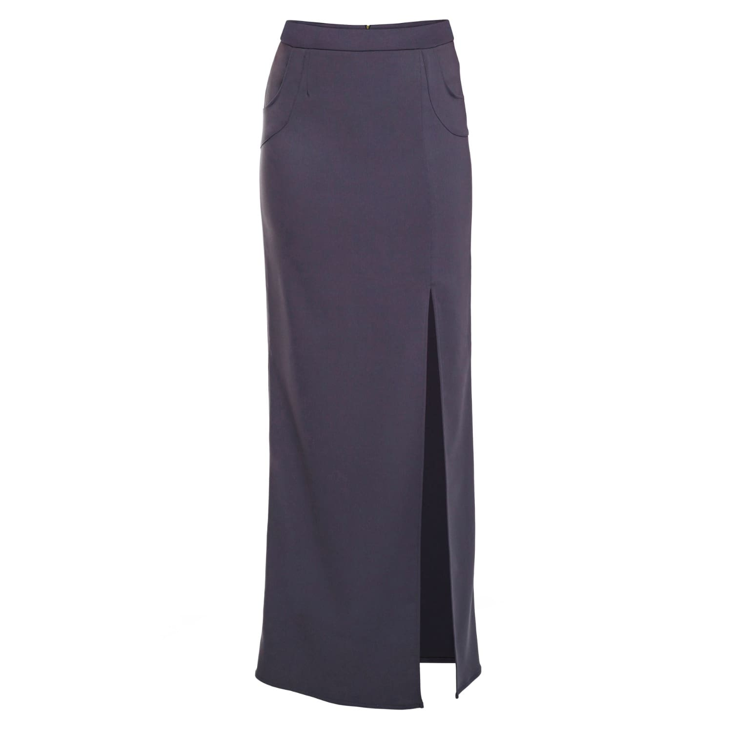 bright in luster shades of run shoes Charcoal Grey Tailored Maxi Skirt by Philosofée by Glaucia Stanganelli