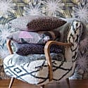 Animal Print Velvet Cushion 45 By 45 Magic Print In Brown Colourway image