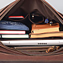 Dark Chocolate Leather Briefcase image