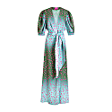 Animal Print Dress - Green/Pink image