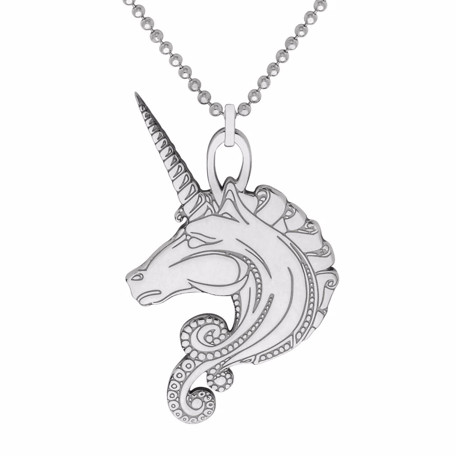 learn product silver pendant unicorn make moonlight to main jewellery