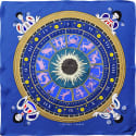 Cyclades Silk Scarf the Zodiac Blue image