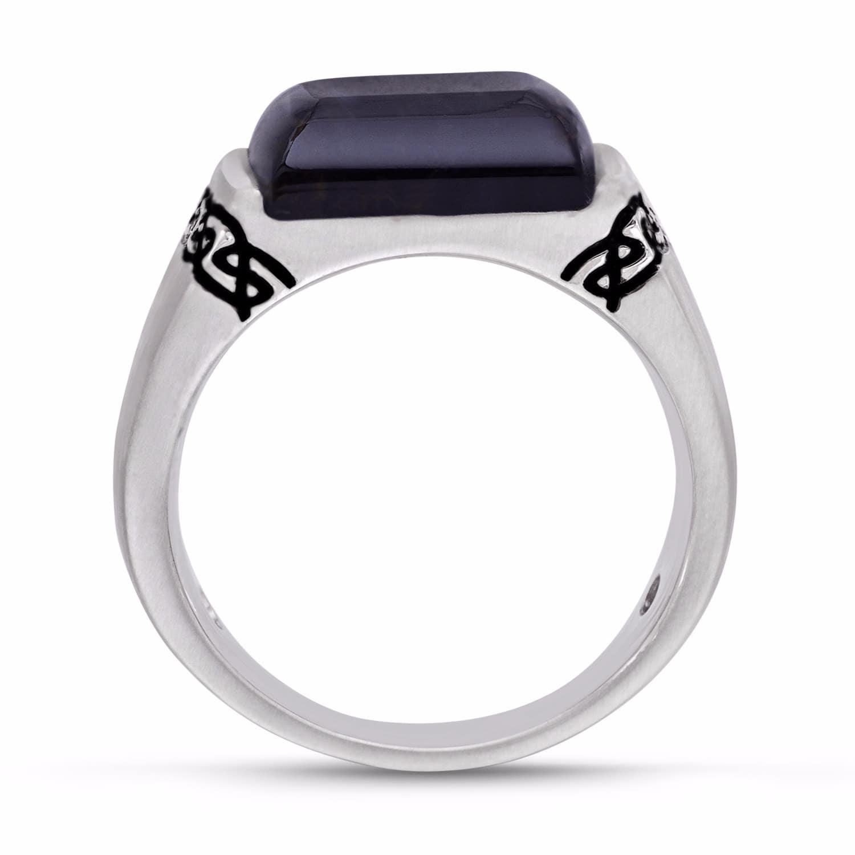 fe86f23805759 Blue Pietersite Celtic Stone Ring by LMJ