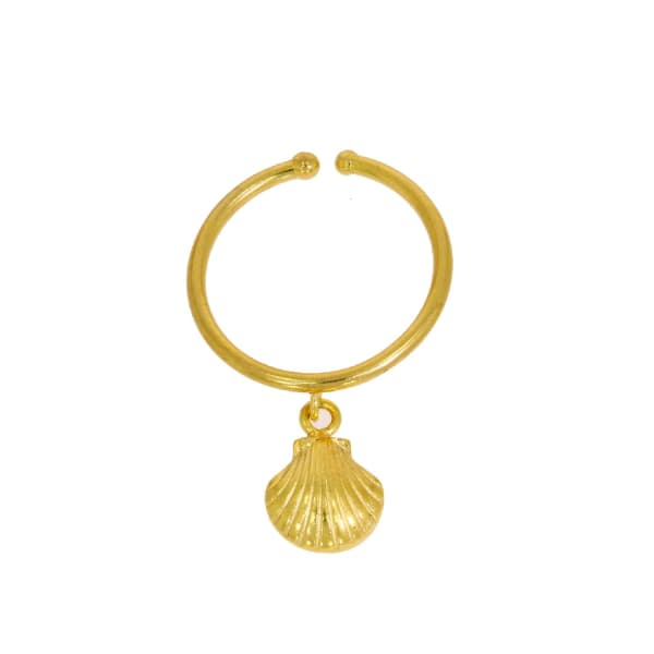 OTTOMAN HANDS Gold Shell Charm Ring