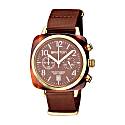 Briston Clubmaster Classic Terracotta Chocolate Colour With Yellow Gold Finishing image