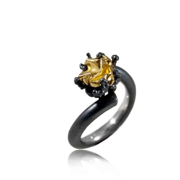 KAROLINA BIK JEWELLERY Naphtha Ring Small