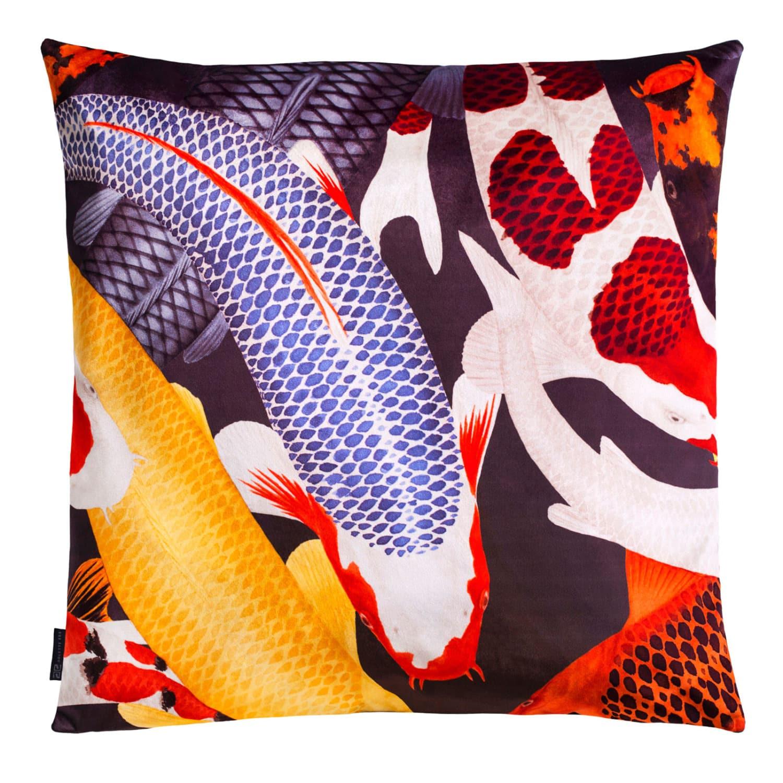 Koi II Large Velvet Floor Cushion Style 2   ARLETTE ESS   Wolf & Badger