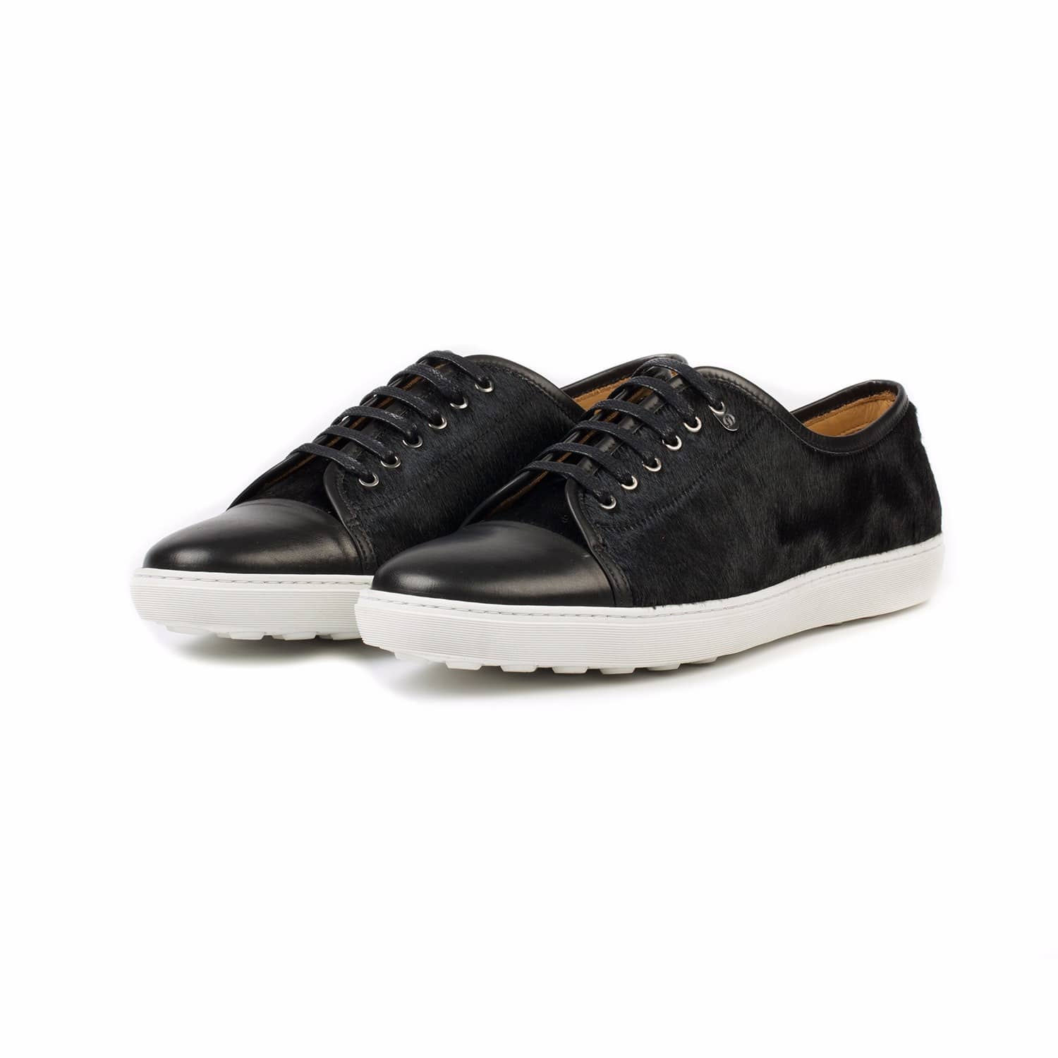 ab657a1a9b67b Redchurch Calf Hair Luxury Sneaker Black | Donhall & Bell | Wolf ...