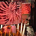 Tie Dye Dream Print Satin Lampshade 35X23Cm image