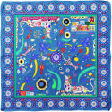 Cyclades Silk Scarf Friendship in Blue image