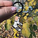 Enamel Keychain Socks & Slippers image
