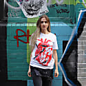 Damages, Birds In Heart White Organic Cotton T-Shirt image
