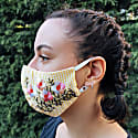 Pack Of 3-Adjustable/Triple Layer Cotton Face Masks With Nose Wire & Embroidery Details image