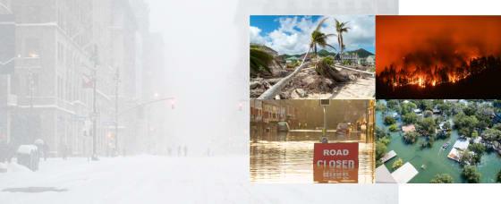 Header image of extreme weather photos