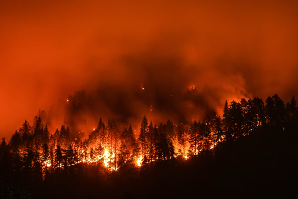 Severe weather hero image of a wildfire