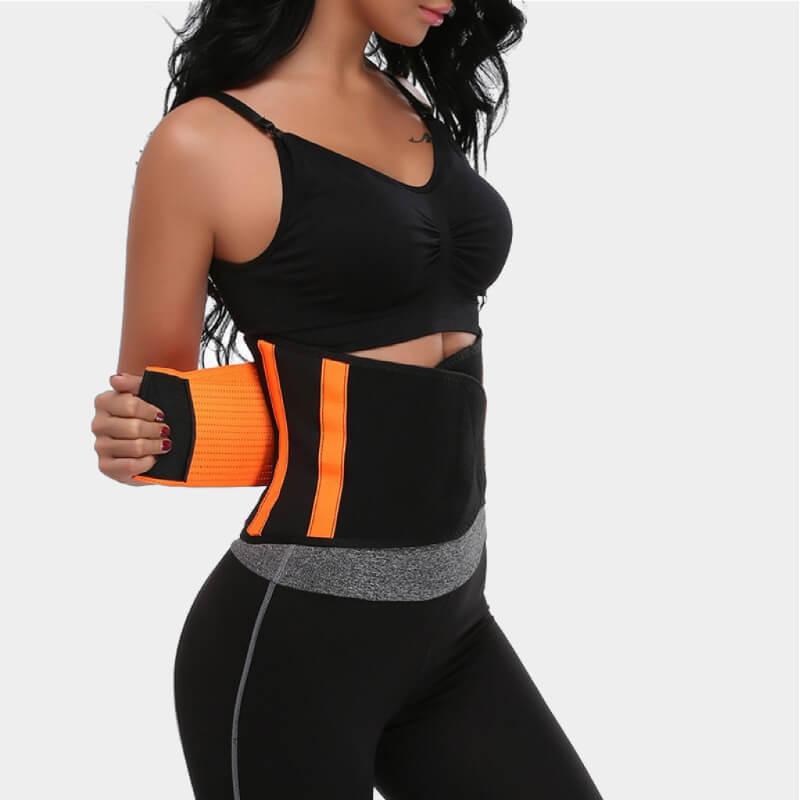 sweat belt strap back fat waist cincher