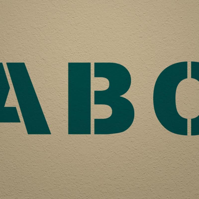 Arial Black Alphabet Stencil Set - Bold Block Alphabet Set