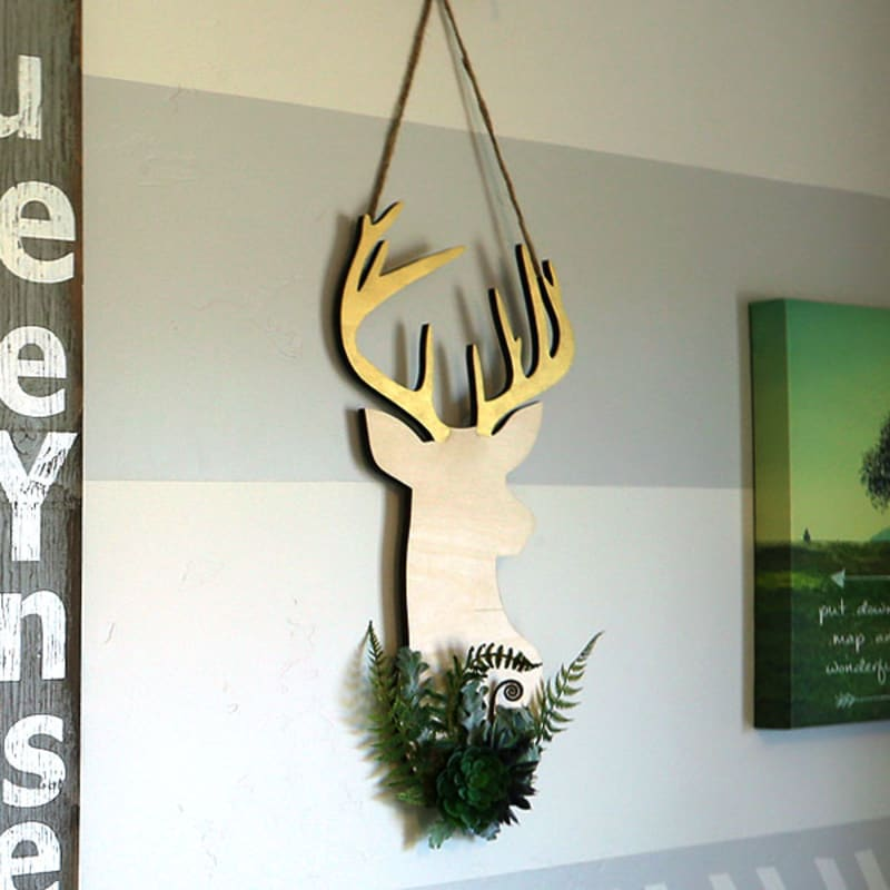 Antlers Unfinished MDF Wood Cutout Variety Sizes USA Made Made Forest Decor