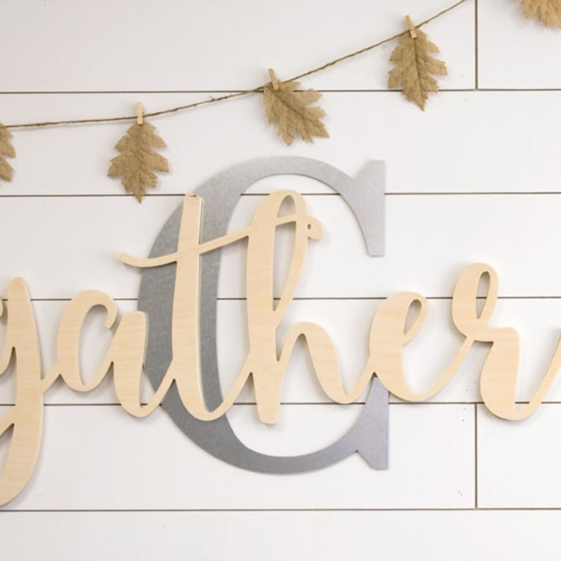"""6-Count Wooden /""""Welcome/"""" Word Cutouts 16-Inch Ivory"""