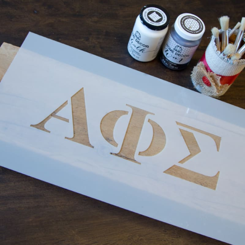 image regarding 4 Inch Greek Letter Stencils Printable titled Greek Letter Stencil