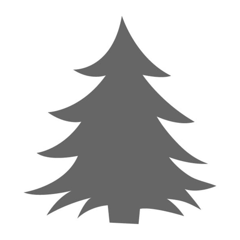 Christmas Tree Stencils: Happy Christmas Tree Stencil
