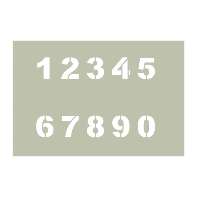 Arial Black Number Stencil Set | Woodland Manufacturing