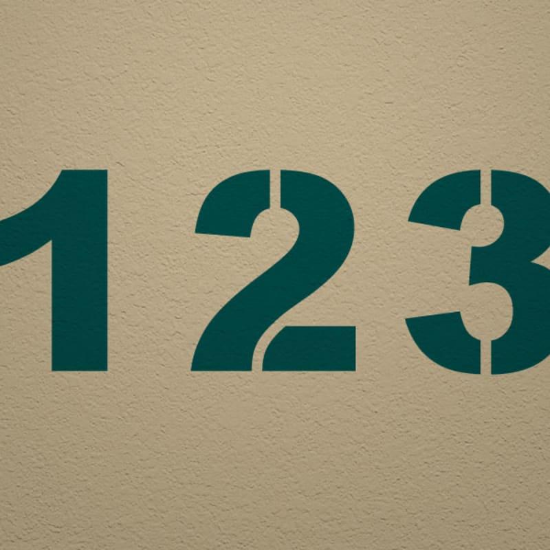 Arial Black Number Stencil Set   Woodland Manufacturing