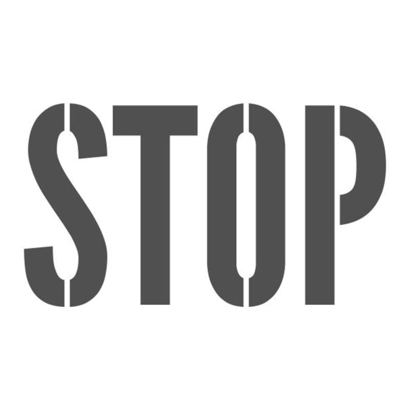 Stop Stencil - Custom Made  Any Size, Any Font | Woodland