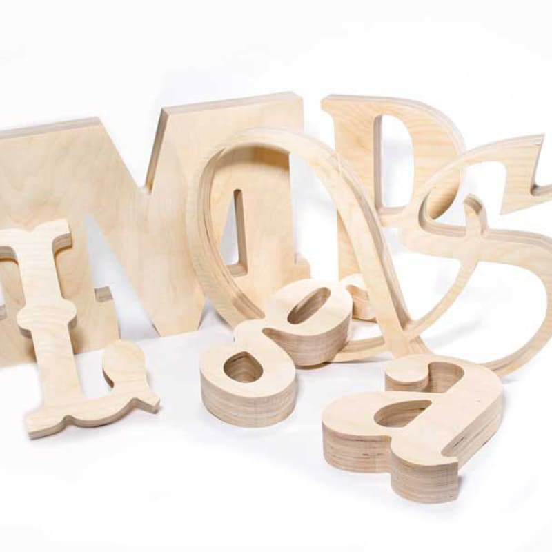 Large Wood Letters Any Font Custom Made Woodland Manufacturing