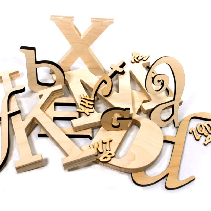 Wood Letters - Custom Baltic Birch Letters | Woodland Manufacturing