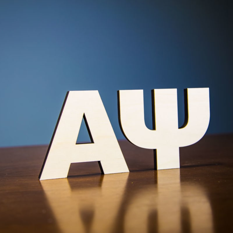 Unpainted Wood Greek Letters Any Size Custom Made Woodland