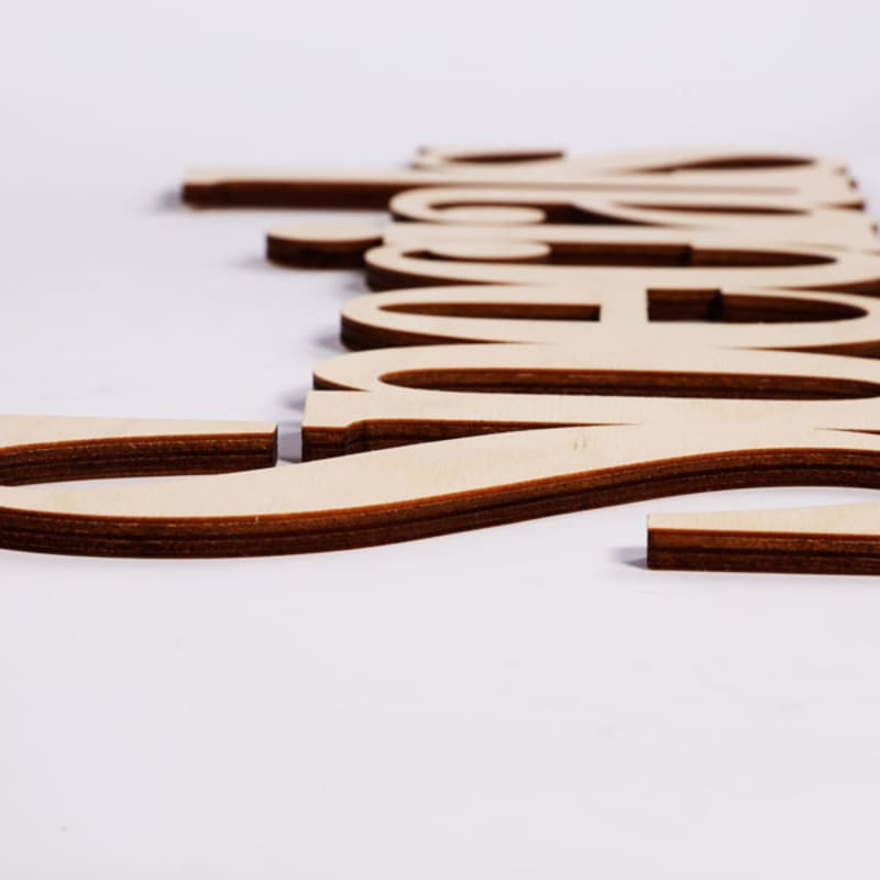 Wooden Connected Letters