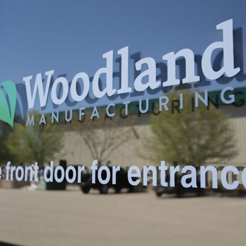 Peel and Stick Vinyl Lettering | Woodland Manufacturing