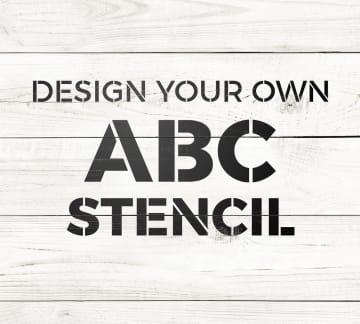 Custom Stencils for Crafts & Projects | Craftcuts com