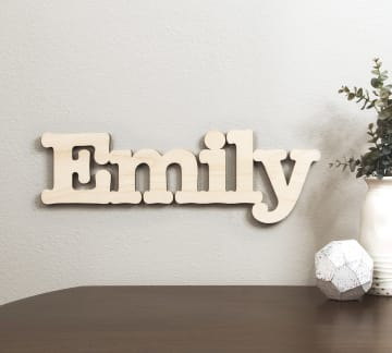 Custom Wooden Wall Signs Names Letters Craftcuts Com