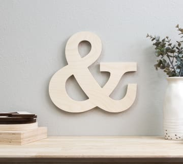 Unfinished Wood Letter Slices Sign Board for Home Sign Wall Decoration DIY Craft Projects SAVITA 12 Inch Blank Wooden Letters B