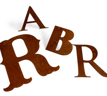 Cut Metal Letters - Any Font, Any Size, Custom | Woodland