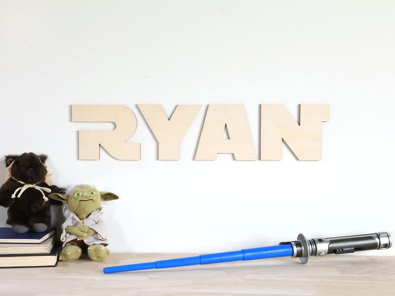Star Wars Wood Letter - Star Wars Wall Letters   Craftcuts com