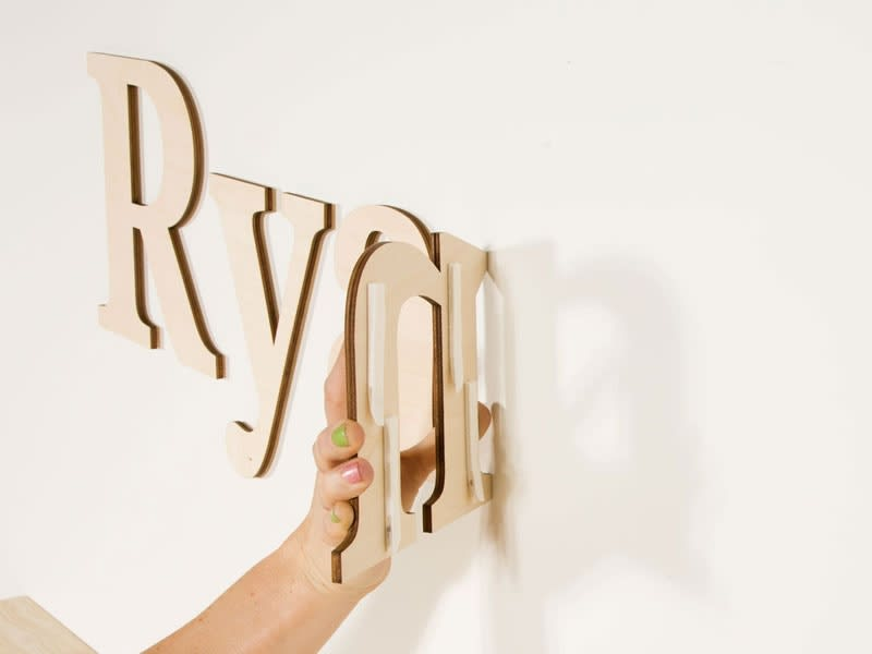 Wood Wall Letters Custom Wood Lettering Craftcutscom