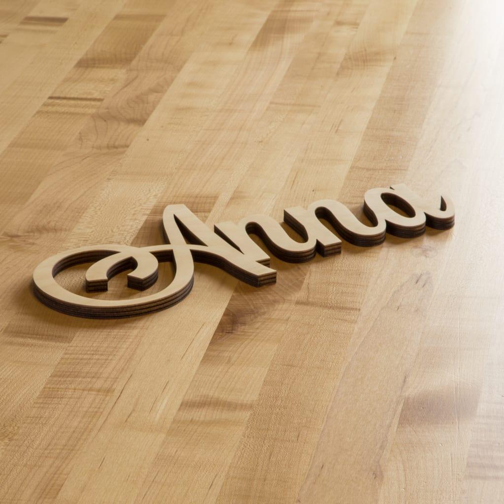 Wooden Alphabet Letters Font MV Boli Laser Cut Out Unfinished Blank Craft Supplies Wood Decorative Letters Custom Cursive Letter