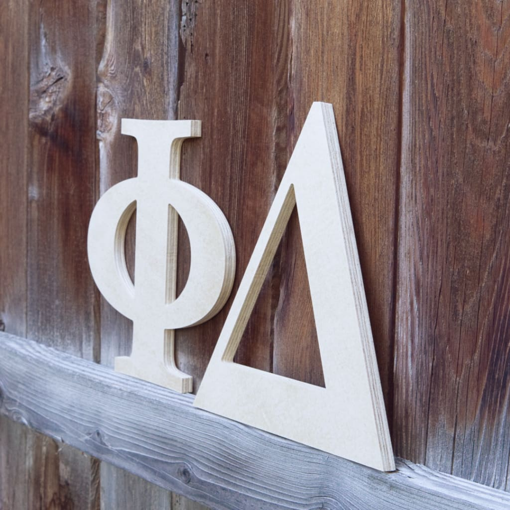 Outdoor Wood Greek Letters Custom Made House Letters Craftcutscom