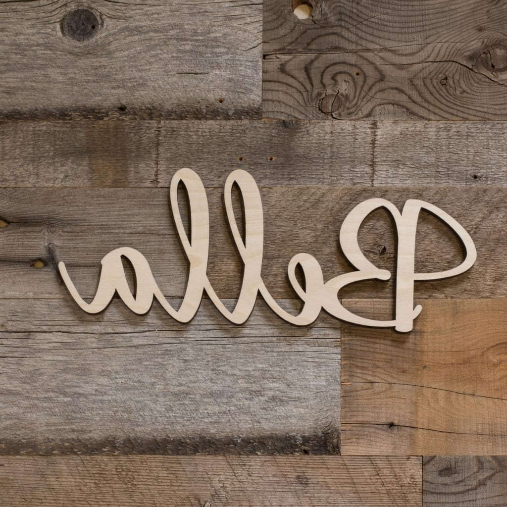 Painted Custom Wooden Name Sign Plaque Price per Letter 10CM Script Font Sptl
